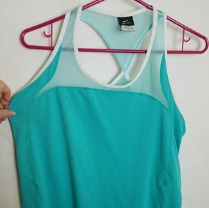 NIKE Dri-Fit Turquoise Large Athletic Tank Top